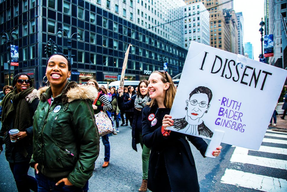 Women's March, NYC, Jan. 21.