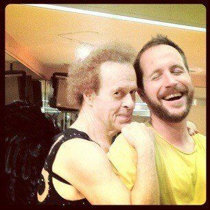 Taberski and Richard Simmons at the now-closed Slimmons Studio.
