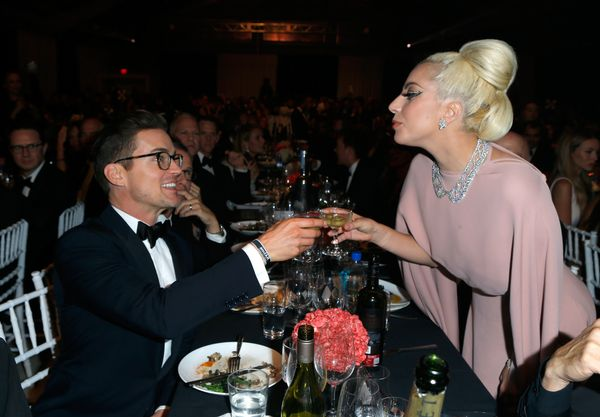 <strong>Oct. 29, 2015:</strong> Matt Bomer and Lady Gaga at amfAR's Inspiration Gala.