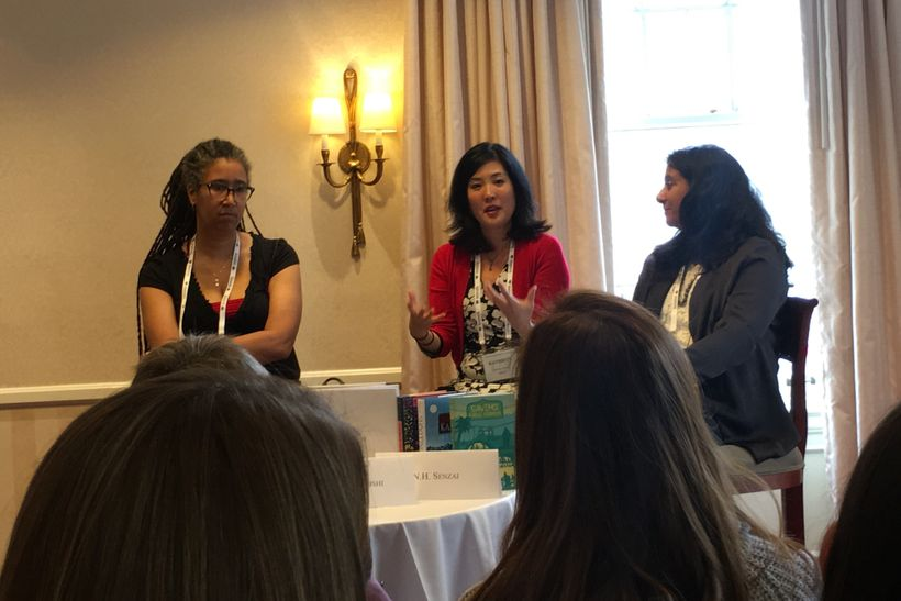 Aya de Leon, Kathryn Otoshi, and N.H. Senzai present at the 2017 San Francisco Writers Conference.