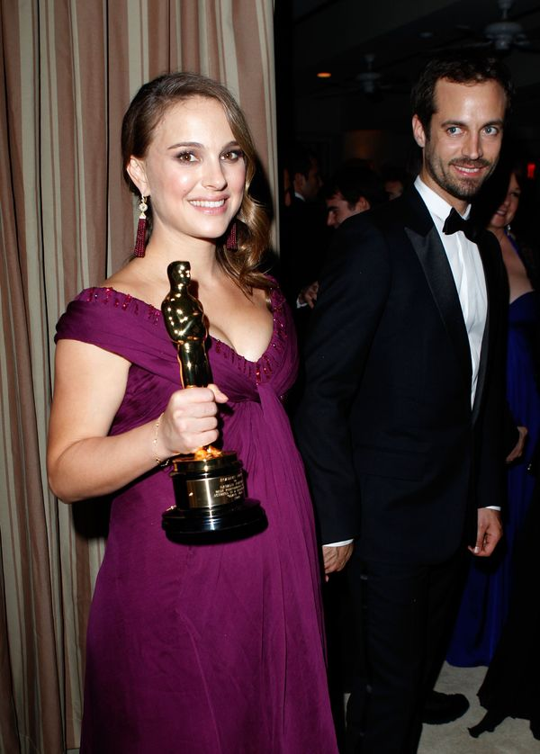 <strong>Feb. 27, 2011:</strong> Natalie Portman and Benjamin Millepied at the Vanity Fair party.