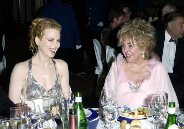 <strong>Aug. 31, 2001:</strong> Nicole Kidman and Elizabeth Taylor at a Venice Film Festival amfAR benefit.