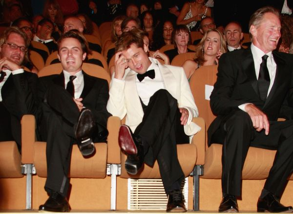 <strong>Sept. 2, 2007: </strong>Andrew Dominik, Casey Affleck, Brad Pitt and Sam Shepard at the Venice Film Festival premiere