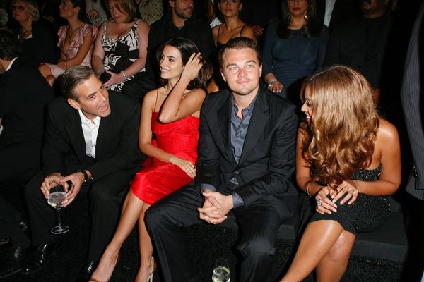 <strong>Feb. 25, 2007: </strong>George Clooney, Penelope Cruz, Leonardo DiCaprio and Beyoncé at an Armani show in
