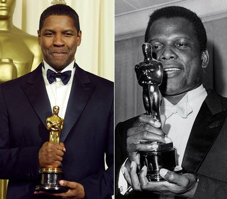Washington is on the verge of becoming the first black actor to win three Academy Awards.