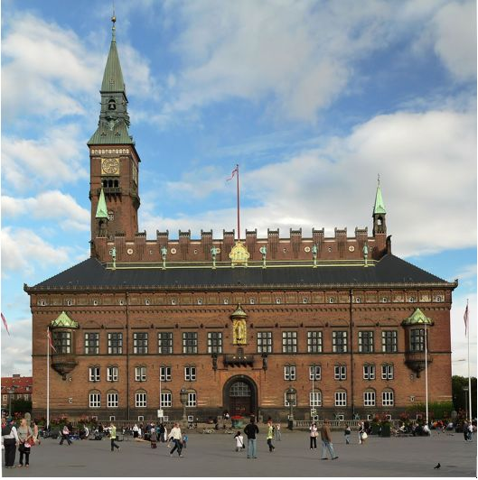Copenhagen City Hall, headquarters for officials guiding the city's efforts to achieve carbon-neutrality by 2025.