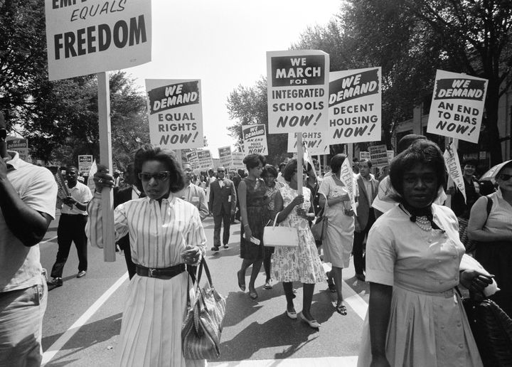The civil rights march on Washington, D.C. Aug. 28, 1963.