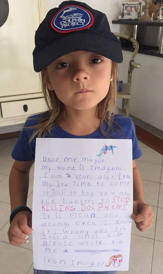 Imogen's letter to the Mayor of Taiji