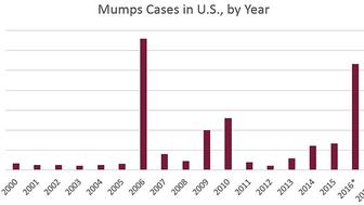 The US has experienced several large mumps outbreaks in recent years prompting officials to consider recommending a third vaccine to prevent the disease