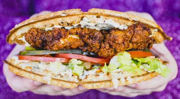 Fried Chicken Waffle Sandwich Chain Has A Mardi Gras Inspired Po
