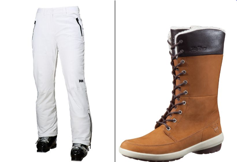 Left: Arosa Pants |  Right: Louise Boots