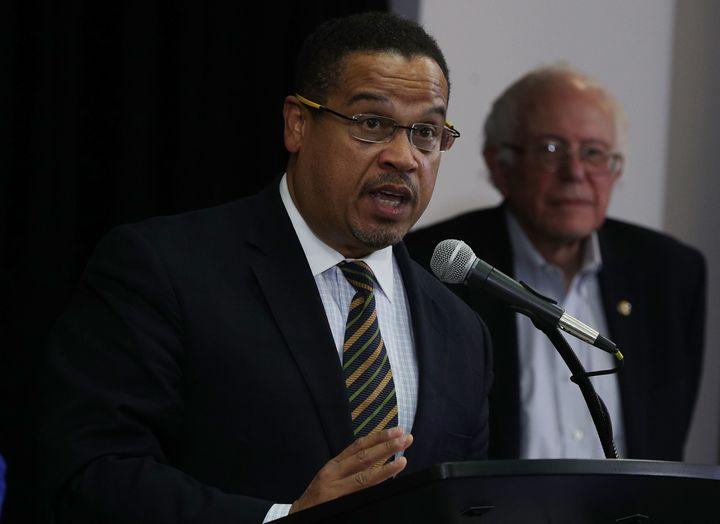 Rep. Keith Ellison (D-Minn.)has the support of Sen. Bernie Sanders (I-Vt.)in his bid to become Democratic Nationa