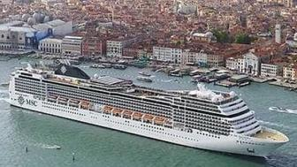 Daniel Belling was vacationing on this cruise ship with his wife and children but left only with his two kids according to police
