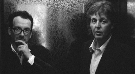Elvis Costello and Paul McCartney