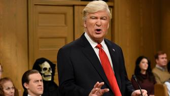 SATURDAY NIGHT LIVE -- 'Alec Baldwin' Episode 1718 -- Pictured: (l-r) Alec Baldwin as President Donald Trump during the 'Trump People's Court' sketch on February 11, 2017 -- (Photo by: Will Heath/NBC/NBCU Photo Bank via Getty Images)