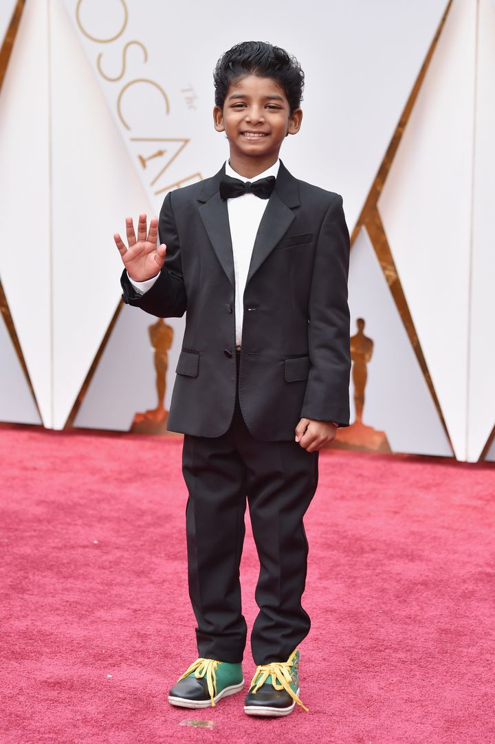 Sunny Pawar attends the 89th Annual Academy Awards.