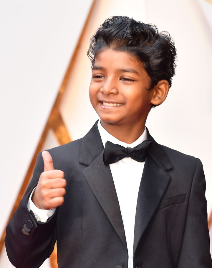 Sunny Pawar attends the 89th Annual Academy Awards