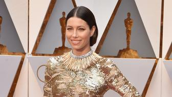 HOLLYWOOD, CA - FEBRUARY 26:  Actor Jessica Biel attends the 89th Annual Academy Awards at Hollywood & Highland Center on February 26, 2017 in Hollywood, California.  (Photo by Kevin Mazur/Getty Images)