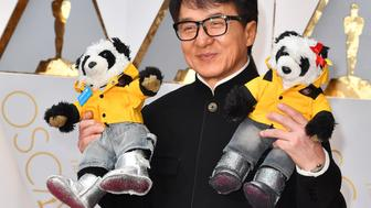 HOLLYWOOD, CA - FEBRUARY 26:  Actor Jackie Chan attends the 89th Annual Academy Awards at Hollywood & Highland Center on February 26, 2017 in Hollywood, California.  (Photo by Jeff Kravitz/FilmMagic)