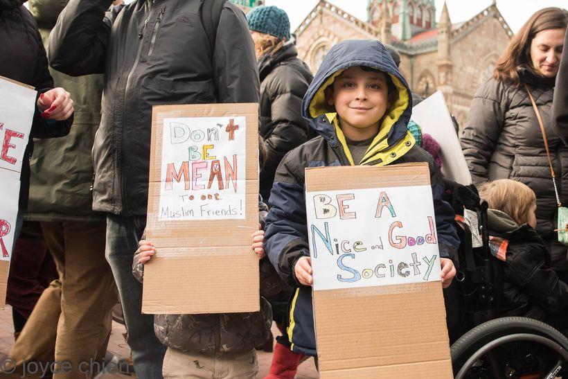 Travel ban protest, Boston, MA, 1/29/17