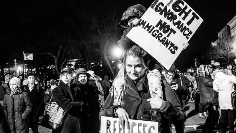 Rally at Supreme Court to Oppose Immigration Ban, Washington, DC 1/30/17