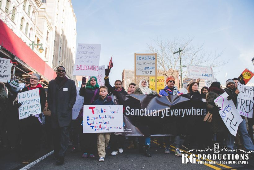 March for Humanity, Philadelphia, 2/4/17