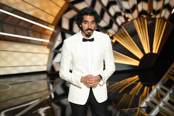 Actor Dev Patel speaks onstage during the 89th Annual Academy Awards.