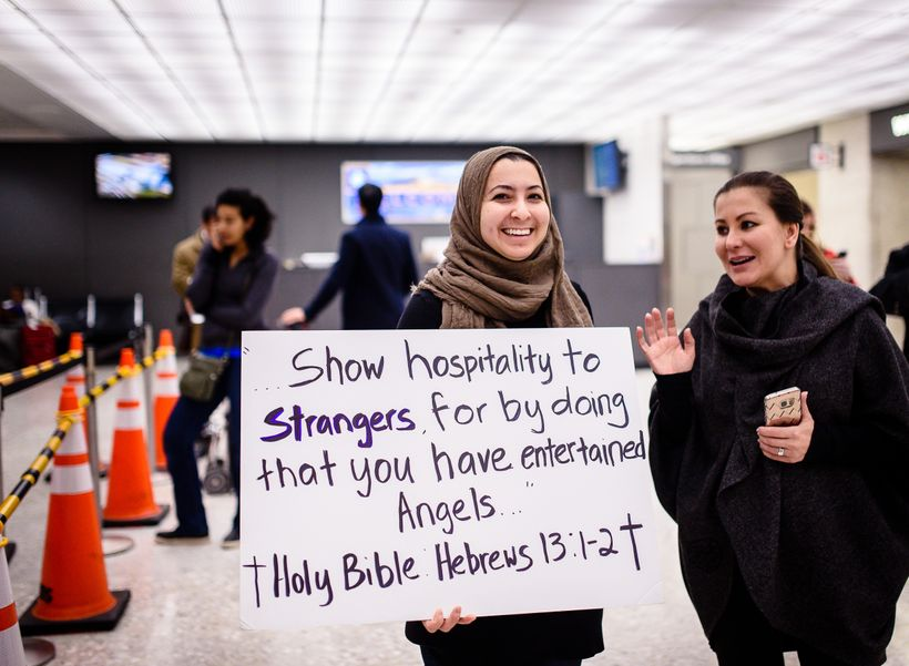 Rally Against the Travel Ban, Dulles Airport, Dulles, VA 1/31/17