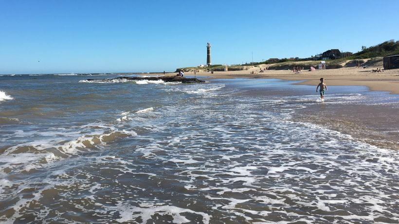 The 1877 lighthouse protects ships off Playa Brava in Jose Ignacio