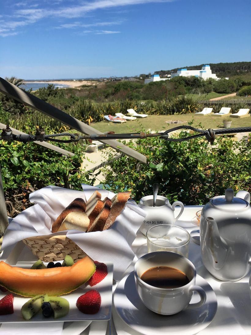 A most relaxing breakfast at Posada del Faro