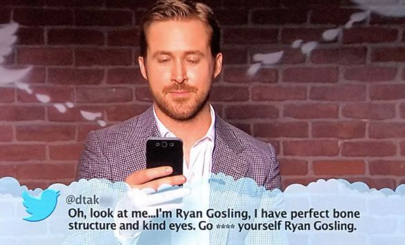 Ryan Gosling was invited to read out some mean, juicy
