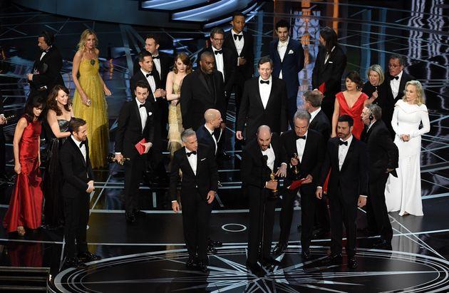 The 'La La Land' team were half way through their acceptance speech when the mistake was