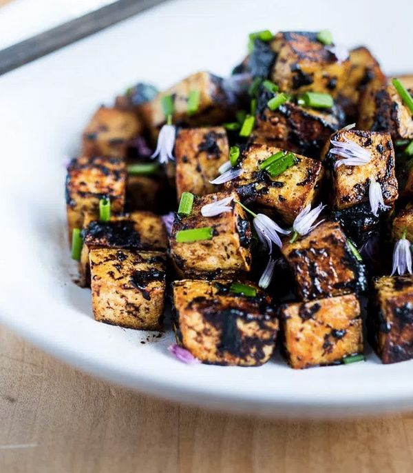 "<strong>Get the <a href=""http://www.feastingathome.com/black-garlic-tofu/"" target=""_blank"">Black Garlic Tofu recipe</a>"