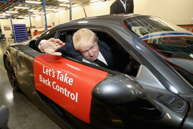 Pro-Brexit politician Boris Johnson, now British foreign