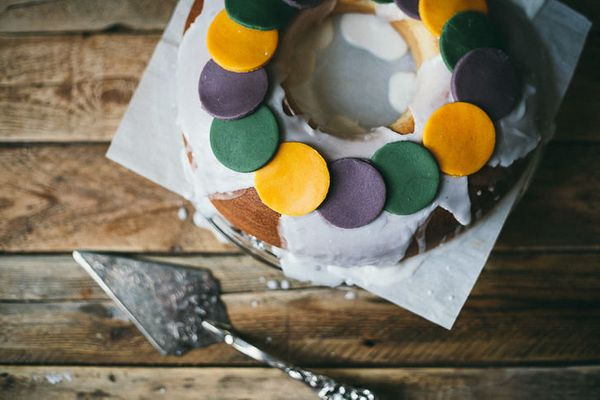 "<strong>Get the <a href=""http://food52.com/recipes/26845-king-cake"" target=""_blank"">King Cake recipe</a> from Molly Yeh"