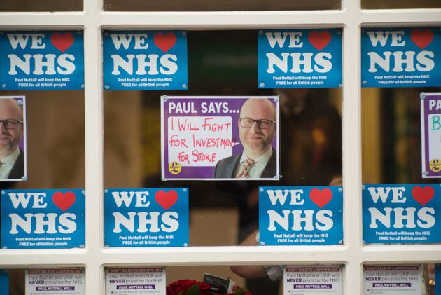 The NHS featured heavily in Ukip's Stoke