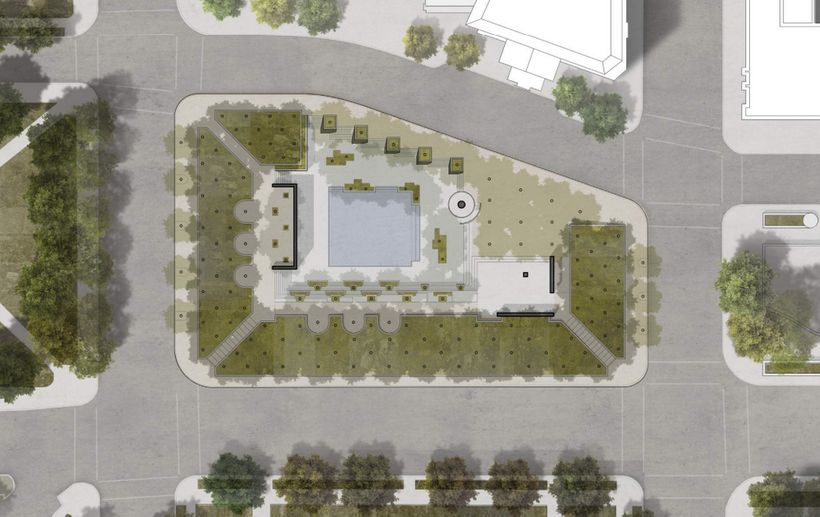 """Pool and Plaza"" design concept."