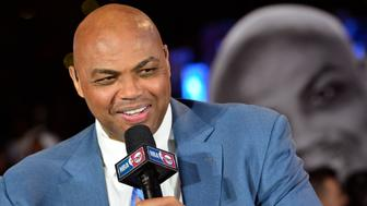CLEVELAND, OH - OCTOBER 25:  A close up shot of NBA TNT Analyst, Charles Barkley talking on set before the New York Knicks game against the Cleveland Cavaliers on October 25, 2016 at Quicken Loans Arena in Cleveland, Ohio.  NOTE TO USER: User expressly acknowledges and agrees that, by downloading and or using this Photograph, user is consenting to the terms and conditions of the Getty Images License Agreement. Mandatory Copyright Notice: Copyright 2016 NBAE (Photo by David Dow/NBAE via Getty Images)