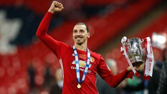 "Britain Soccer Football - Southampton v Manchester United - EFL Cup Final - Wembley Stadium - 26/2/17 Manchester United's Zlatan Ibrahimovic celebrates with the trophy Reuters / Darren Staples Livepic EDITORIAL USE ONLY. No use with unauthorized audio, video, data, fixture lists, club/league logos or ""live"" services. Online in-match use limited to 45 images, no video emulation. No use in betting, games or single club/league/player publications. Please contact your account representative for further details."