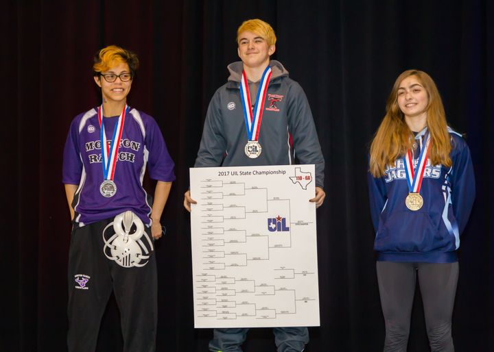Transgender Euless Trinity wrestler wins his first match at girls state tournament