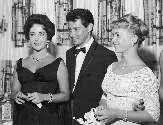 Elizabeth Taylor, Eddie Fisher y Debbie Reynolds, antes de que los dos primeros empezaran a