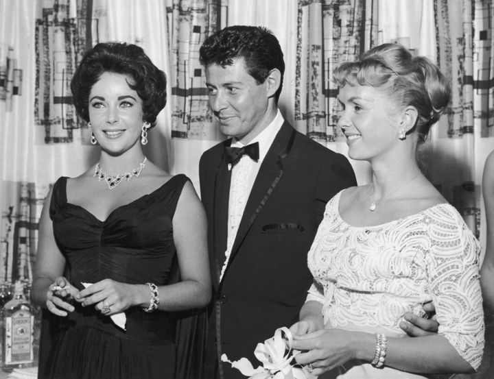 Elizabeth Taylor, Eddie Fisher and Carrie Fisher before the drama of the century.