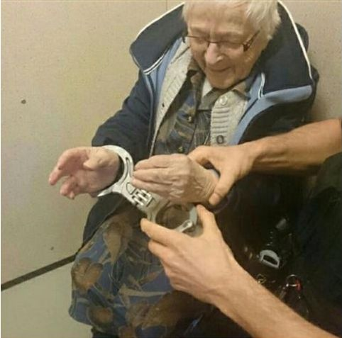 99-year-old ticks 'getting locked up' off her bucket list