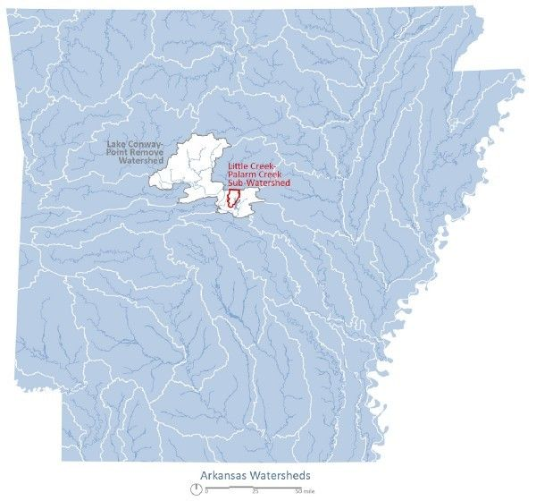 The Lake Conway-Point Remove watershed in Arkansas