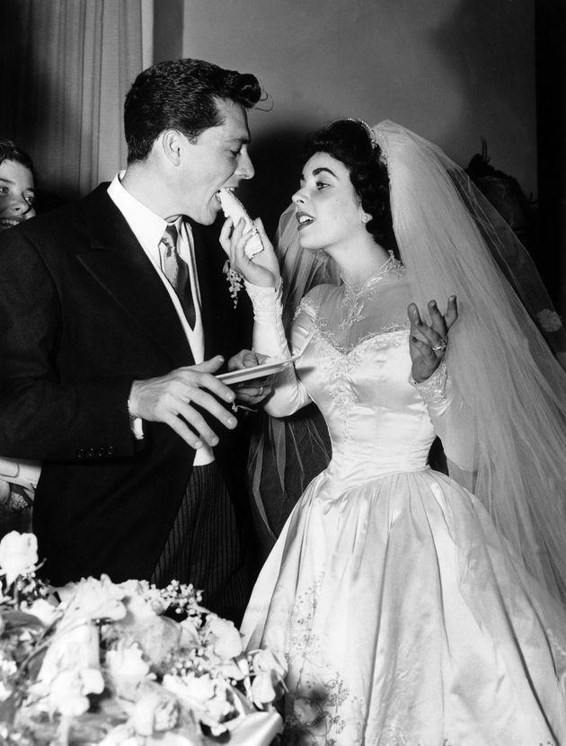 Elizabeth Taylor y su primer marido, Conrad Hilton