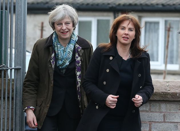 Theresa May and Copeland Tory MP Trudy