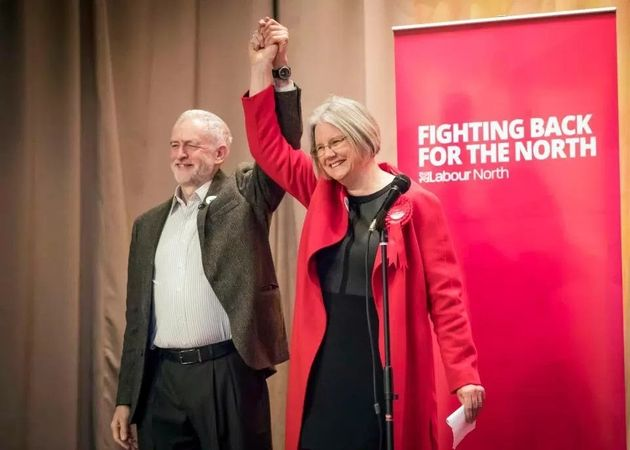 Jeremy Corbyn and defeated Labour candidate Gillian