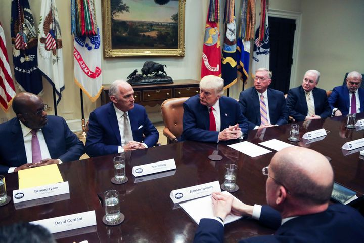 President Donald Trump met with executives from large health insurance companies at the White House on Monday.