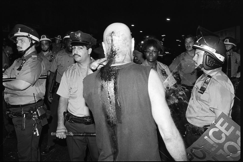 James Hamilton, Tompkins Square Park riot, New York City, 1988.