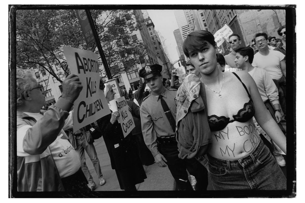 Sandra Lee Phipps, Pro-choice rally, NYC, 1992.